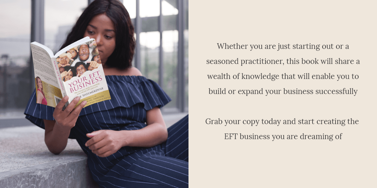 Whether you are just starting out or a seasoned practitioner, this book will share a wealth of knowledge that will enable you to build or expand your business successfully. Grab your copy today and start creating the EFT business you are dreaming of
